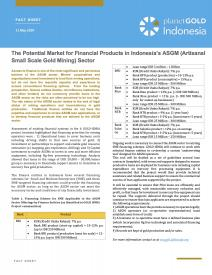 2020 - The Potential Market for Financial Products in Indonesia's ASGM (Artisanal Small Scale Gold Mining) Sector